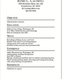 College Student Resume For Internship