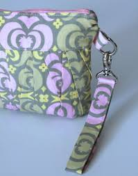 pleated wristlet clutch and makeup bag green pink yellow renberry handmade madeit au