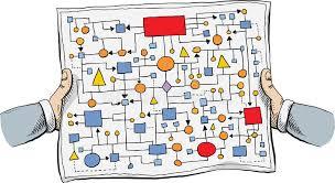 Flow Chart Cartoon Complicated Flowchart Stock Vector Illustration Of
