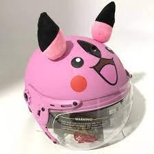 Nón bảo hiểm trẻ em có kính siêu dễ thương dành cho bé gái từ 3 đến 6 tuổi  - VS103KS Pikachu hồng phấn
