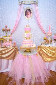 Gold Pink Royal Princess Birthday Party 1st Pink And Gold