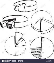 A Set Of Doodle Pie Chart Illustration Stock Vector Art