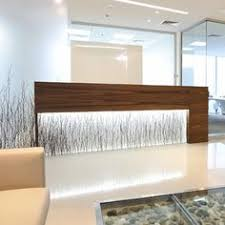 office feature wall ideas. glowing varia birch grove reception desk and feature wall this was constructed in an office building dubai might be a nice idea for your ideas