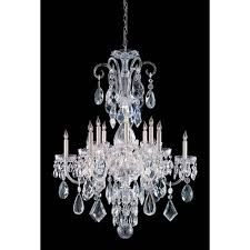 view description 24 lead crystal chandelier