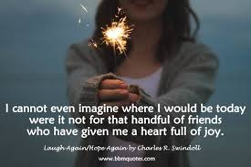 Joy Quotes Impressive Quote From Laugh AgainHope Again By Charles R Swindoll BBM Quotes