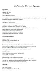 School Cafeteria Worker Sample Resume Resume For A Dishwasher Sample ...