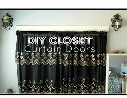curtain for closet door ideas simple design