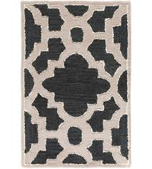 surya can2036 23 modern classics 36 x 24 inch black and neutral area rug