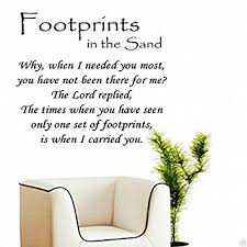 footprints in the sand decal vinyl wall art stickers vinyl decor quote lettering sayings kitchen sport on kitchen wall art stickers amazon with amazon footprints in the sand decal vinyl wall art stickers