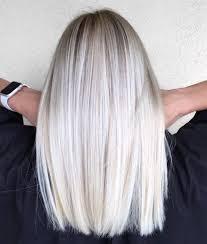 Platinum Hair Design Mid Length Straight Platinum Blonde Hair Hair Design