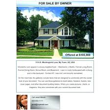 List House For Sale By Owner Free House For Sale Brochure Template