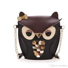 luxury women owl cartoon pu leather bag fox cross bow girls shoulder bags lady handbag totes messenger purse party owl01 womens handbags bags from