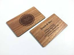wooden business cards wood business cards laser engraved starting at 1 30 each