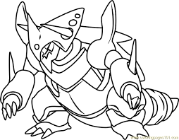 Small Picture Mega Aggron Pokemon Coloring Page Free Pokmon Coloring Pages