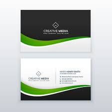 Green Card Template Green Business Card Professional Design Template Download Free