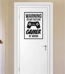 Game Room Wall Decor Gamer Do Not Disturb Warning Version 1 Game Gaming Decal Sticker
