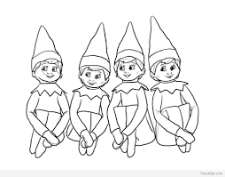 Free Elf On The Shelf Printable Coloring Pages Blata