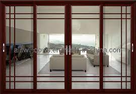 china aluminium framed glass sliding