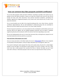 Buy Fake Someone - Carlthomasdocument Birth And Issuu By Certificates Can Passports How