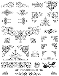 all fee download download free vintage vector ornaments pack all free download 85