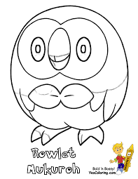 Small Picture Pokemon Coloring Pages Popplio Coloring Pages