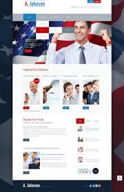 Political Website Templates Website Template 43351 Johnson Politician Political Custom