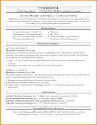 Electrician Cover Letter Classy Resume Of Industrial For