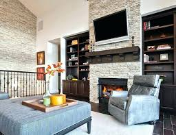 fireplace accent wall fireplace accent wall fireplace accent wall ideas living room transitional with upholstered ottoman