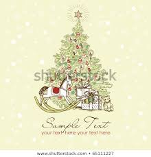 free beautiful christmas cards vintage christmas card beautiful christmas tree stock vector