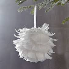 Decorative Feather Balls Stunning Feather Ball Ornament West Elm