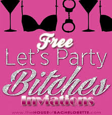 bachelorette party invitations free template free printable naughty bachelorette party invitations