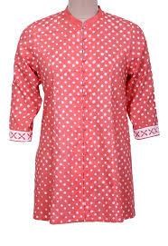 Applique Work Designs On Shirts 2015 Rose Bandhani Shirt With Applique Sleeves Bandhani Dress