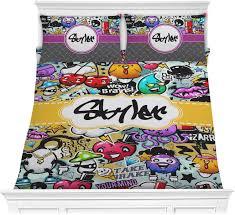 graffiti comforter set personalized