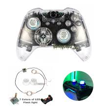 Led Light Xbox One Controller Details About For Microsoft Xbox One Game Controller Clear Shell With Buttons Led Thumb Sticks