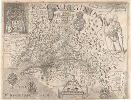 education from lva john smiths masterpiece and copyright nightmare Map Of Voyage From England To Jamestown john smith map England to Jamestown VA Map