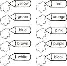 Английский цвета раскраска