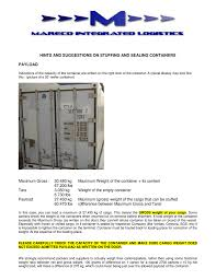 Reefer Container Temperature Chart Hints And Suggestions On Stuffing And