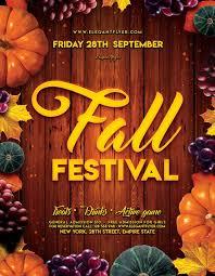 Fall Festival Flyers Template Free Fall Festival Event Free Psd Flyer Template Free Psd Flyer Templates
