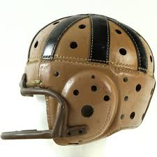1940s vintage football wilson made leather helmet w early facemask
