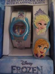 Disney Frozen Watch With Flashing Lights Slide On Characters Elsa