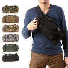 Outdoor <b>Military Tactical Waist</b> Pack Shoulder Bag <b>Molle</b> Camping ...