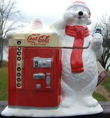 Coca Cola Polar Bear In Bottle Vending Machine Inspiration COCA COLA POLAR BEAR Ceramic COOKIE JAR Original SHRINK WRAP And