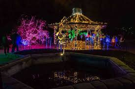 gazebo at brookside gardens in lights