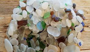 image of more than 100 pieces of glass beach port townsend washington sea glass