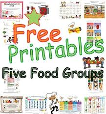 Small Picture Five Food Groups Learning And Activity Sheets