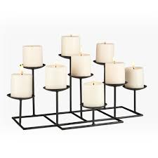 chic 9 candle metal fireplace candelabra for home accessories ideas