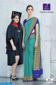 Graduation Saree Design Buy Uniform Sarees School Uniform Sarees Crepe Unform Saree