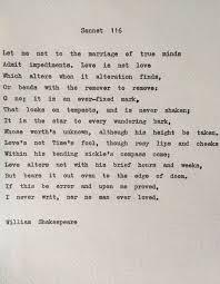 essay sonnet 116 essay
