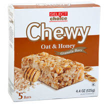 bulk select choice chewy oats n honey granola bars 5 ct bo at dollartree