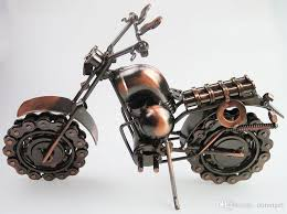 large size hand made iron art antique bronze metal harley motorcycle motorbike autobike model toys for kids men birthday gift home decor gifts gifts and
